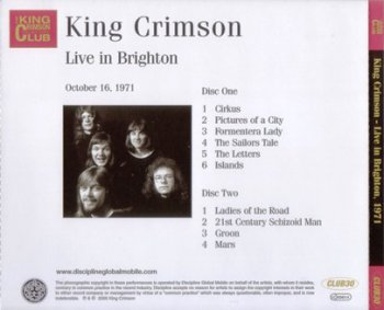 King Crimson - Live In Brighton 1971 (Bootleg/D.G.M. Collector's Club 2005)