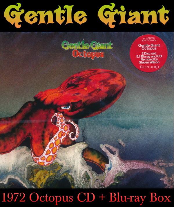 Gentle Giant: 1972 Octopus CD + Blu-Ray Set 2015