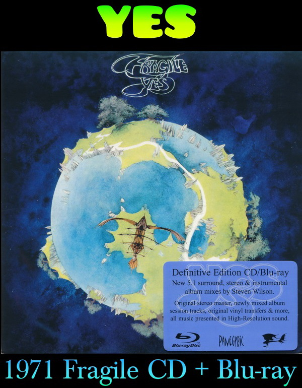 Yes: 1971 Fragile - CD + Blu-ray Deluxe Set Atlantic Records 2015