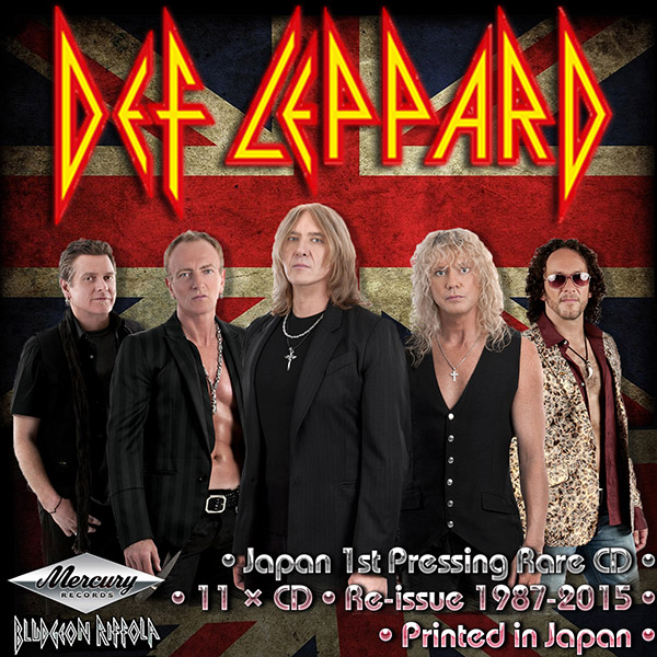 DEF LEPPARD - Discography (11 x CD • Japan 1st Press • Re-issue 1987-2015)