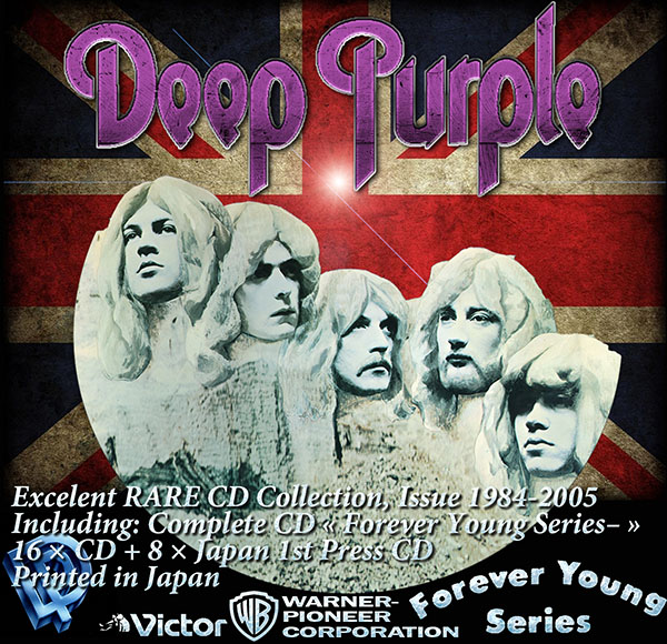 DEEP PURPLE - Forever Young Series- (16 x CD + 8 x Japan 1st Press CD • Issue 1984-2005)