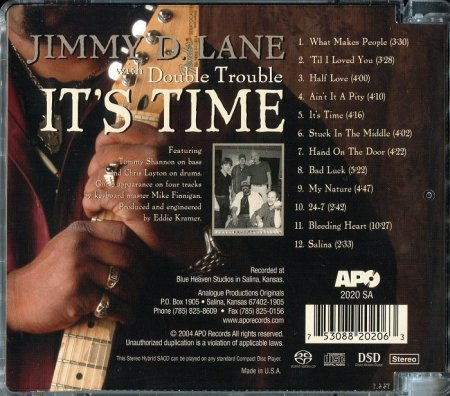 Jimmy D. Lane with Double Trouble - It's Time [SACD] (2004) PS3 ISO