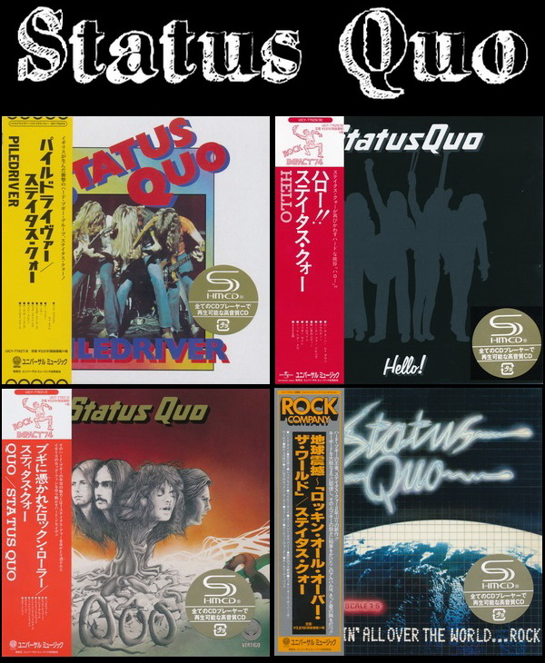 Status Quo: 4 Albums - 2 Mini LP SHM-CD Sets Deluxe Editions Universal Music Japan 2016