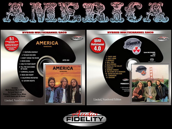 America: 1972 Homecoming & 1975 Hearts - Hybrid Multichannel SACD Audio Fidelity 2015/2016