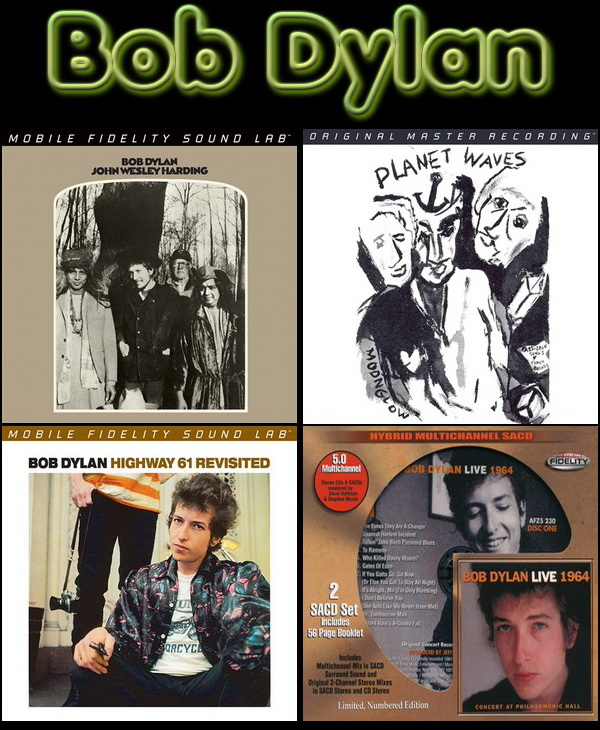 Bob Dylan: 4 Albums Collection - Hybrid SACD MFSL + Audio Fidelity 2015/2016