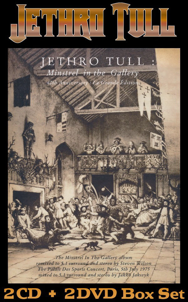 Jethro Tull: 1975 Minstrel In The Gallery - 2CD + 2DVD Box Set Chrysalis Records 2015