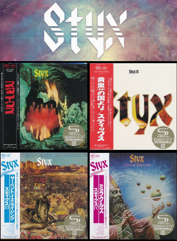 Styx: 4 Albums Mini LP SHM-CD - Universal Music Japan 2016