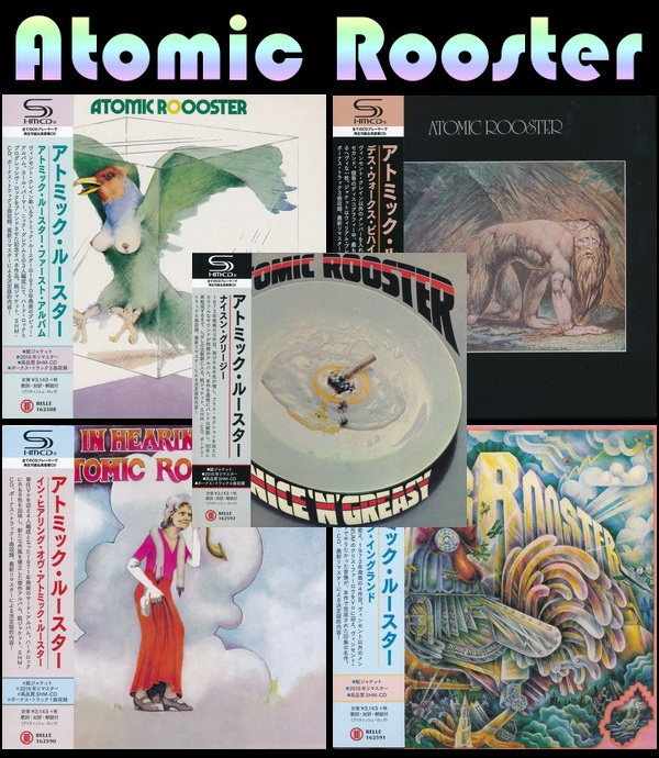 Atomic Rooster: 5 Albums Mini LP SHM-CD - Belle Antique Japan 2016