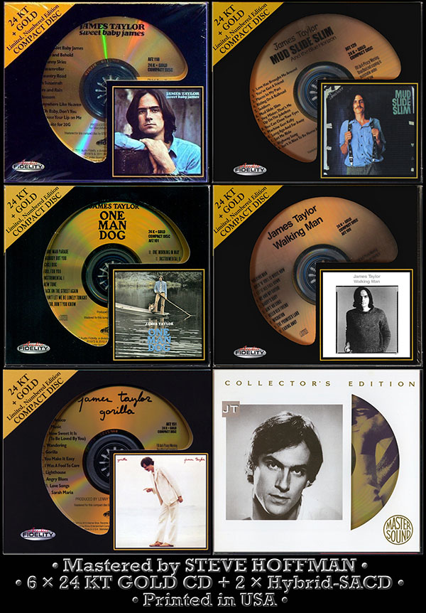 JAMES TAYLOR - Golden Collection (6 x 24 KT GOLD + 2 x SACD • Issue 1993-2013)