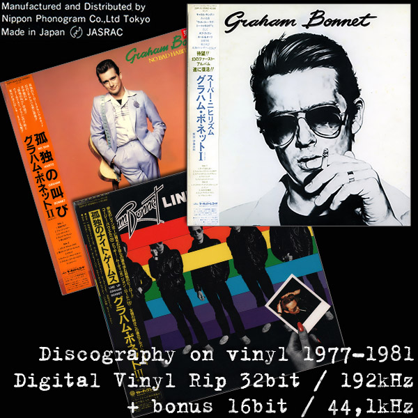 GRAHAM BONNET - Discography on vinyl (3 x LP � Japan Press � 1977-1981)