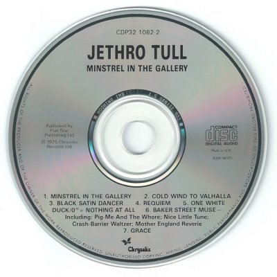 "Jethro Tull - ""Minstrel in the Gallery"" - 1973 (non-remastered, UK, CDP 32 1082 2)"