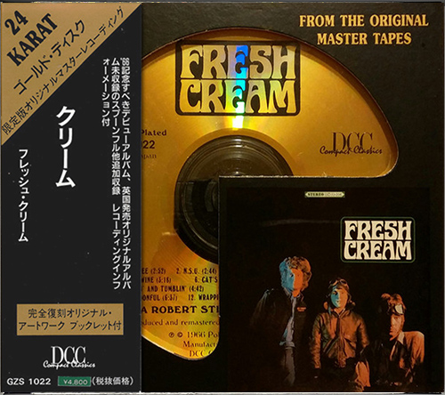 CREAM «Golden Discography» (7 x 24Kt Gold CD • DCC & MFSL • Issue 1992-1996)