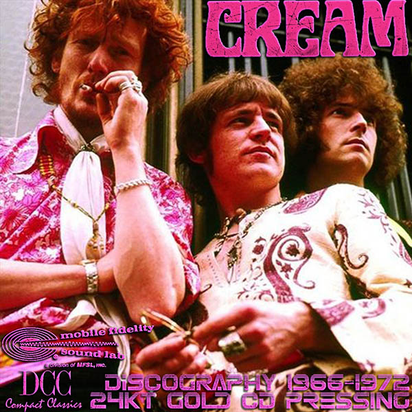 CREAM «Golden Collection» (7 x 24Kt Gold CD • DCC & MFSL • Issue 1992-1996)