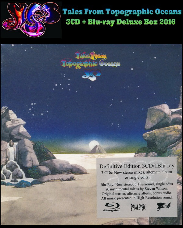 Yes: 1973 Tales From Topographic Oceans - 3CD + Blu-ray Deluxe Box Set Panegyric Records 2016