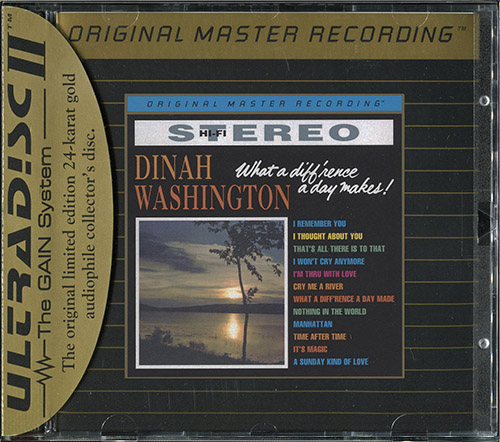 DINAH WASHINGTON «What a diff'rence a day makes!» (1959) (US 1997 MFSL • UDCD 698)