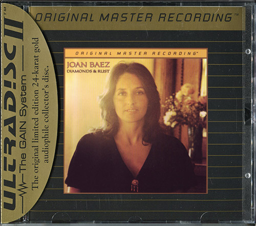 JOAN BAEZ «Diamonds & Rust» (1975) (US 1995 Mobile Fidelity Sound Lab • UDCD 646)