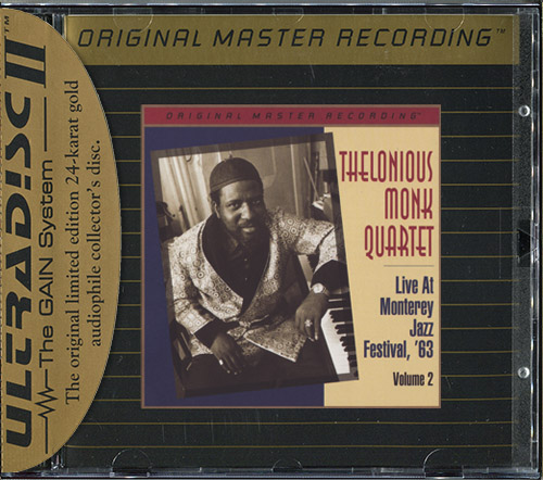THELONIOUS MONK QUARTET «Live At Monterey, Vol. 2» (1963) (US 1997 Mobile Fidelity Sound Lab • UDCD 686)