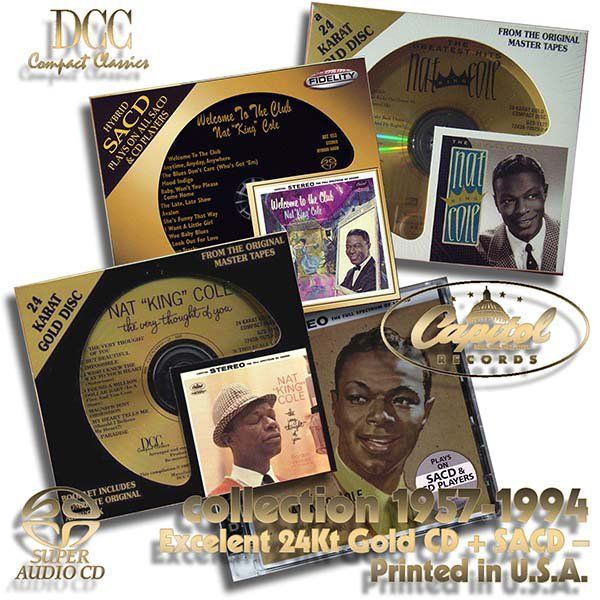 NAT 'KING' COLE - Golden Series – (4 x CD • albums 1957-1994)