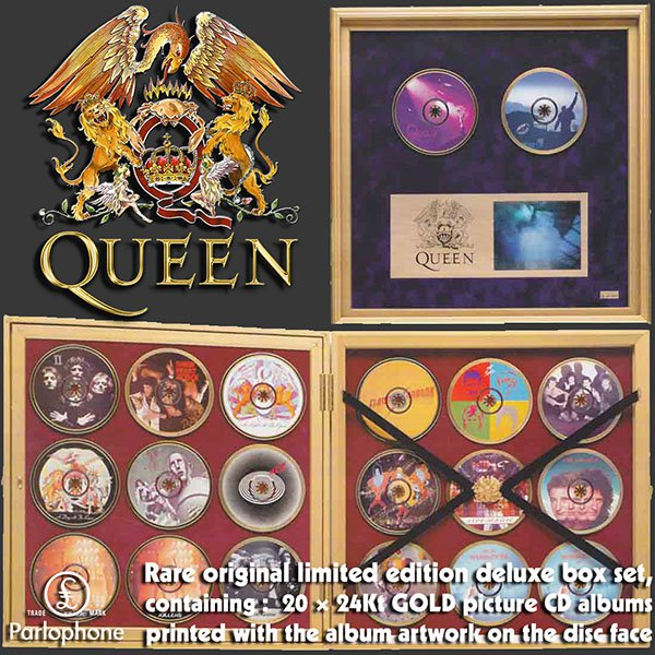 QUEEN «The Ultimate Queen» (NL 20 x 24KT Gold CD EMI Records Ltd. • 7243 8 35009 2 5)