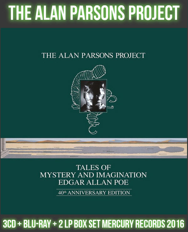 Alan Parsons Project: 1976 Tales Of Mystery And Imagination Edgar Allan Poe / 3CD + BD + 2 LP Box Set Mercury Records 2016