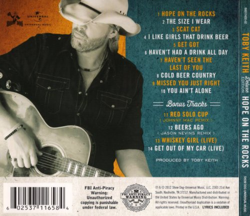Toby Keith - Hope On The Rocks [Deluxe Edition] (2012)