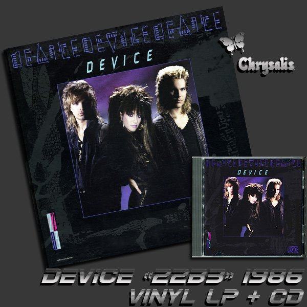 DEVICE - 22B3 (vinyl LP + CD)  (US 1986 Chrysalis Records • 41526)