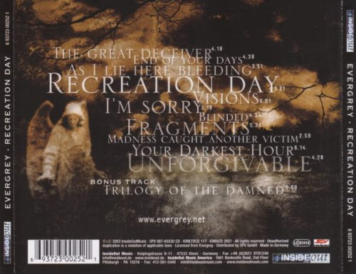 Evergrey - Recreation Day [Limited Edition] (2003)
