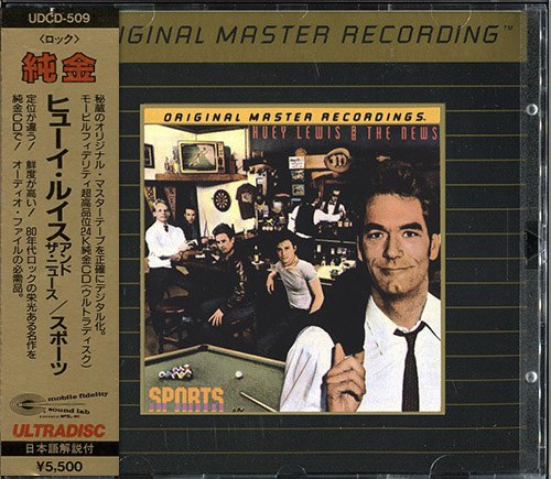 HUEY LEWIS AND THE NEWS «Sports» (1983) (US 1988 Mobile Fidelity Sound Lab, Inc • UDCD 509)