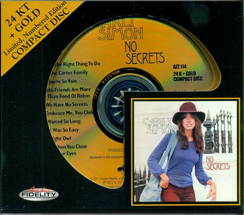 CARLY SIMON «No Secrets» (1972) (US 2011 Audio Fidelity • AFZ 114)