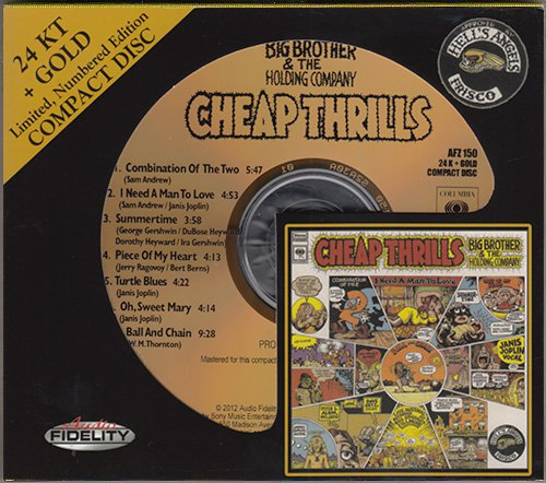 BIG BROTHER & THE HOLDING COMPANY «Cheap Thrills» (1968) (US 2012 Audio Fidelity • AFZ 150)