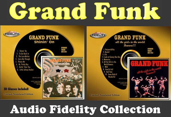 Grand Funk: 2 Albums Hybrid Multichannel SACD Audio Fidelity 2017