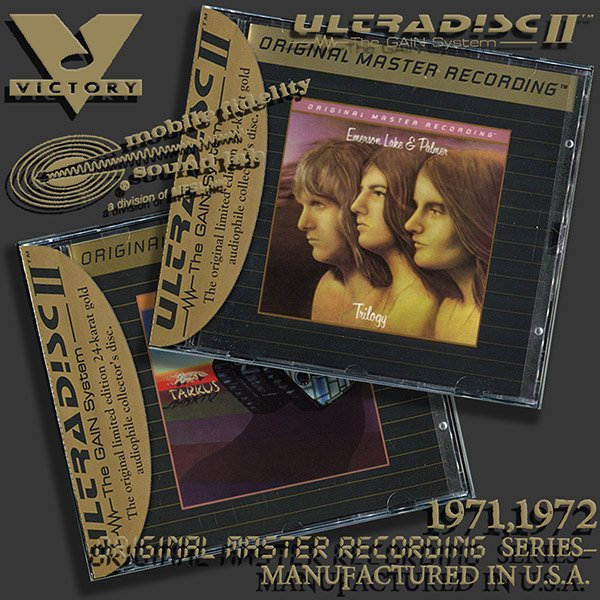 EMERSON, LAKE & PALMER «Original Master Recording Series» – (2 x CD • MFSL • 1971-1972)