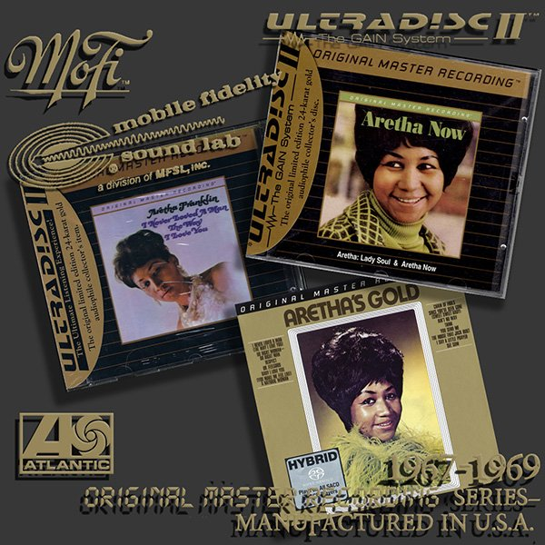 ARETHA FRANKLIN «Original Master Recording» Series– (3 x CD • MFSL • 1967-1969)