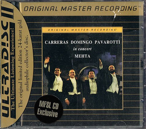 CARRERAS-DOMINGO-PAVAROTTI «In Concert» (1990) (US 1993 Mobile Fidelity Sound Lab • UDCD 587)