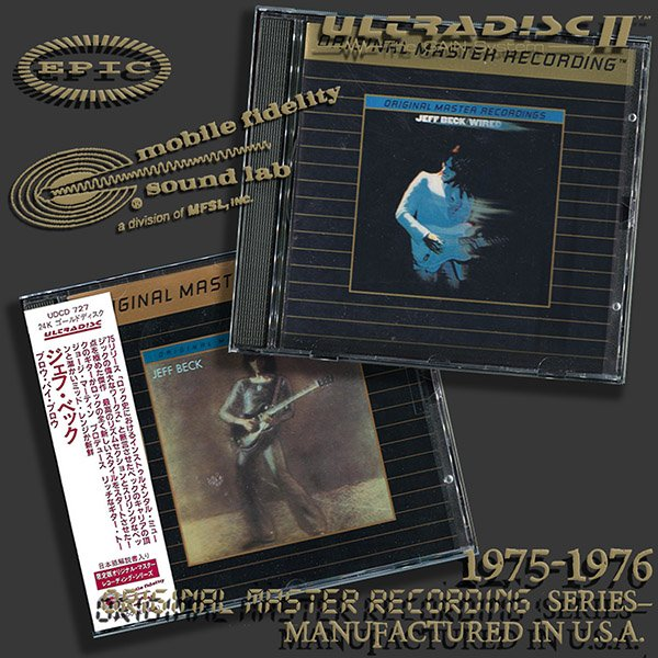JEFF BECK «Original Master Recording» Series – (2 x CD • Mobile Fidelity Sound Lab • 1990-1998)
