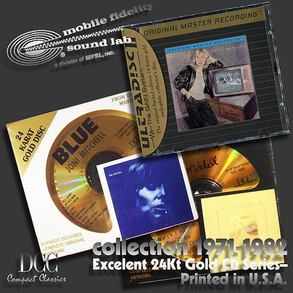 JONI MITCHELL «Golden Series 1971-1982» (3 x CD • Re-issue 1992, 1999)