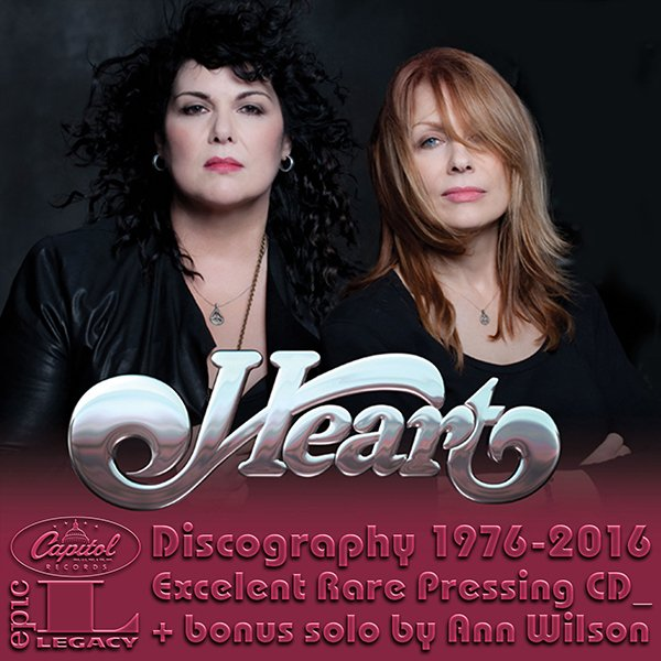 HEART «Discography» (30 x CD • Albums + solo • 1976-2016)