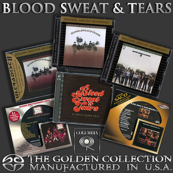 BLOOD, SWEAT & TEARS «Golden Collection 1968-1972» (7 x CD • Columbia Records • Issue 1992-2016)