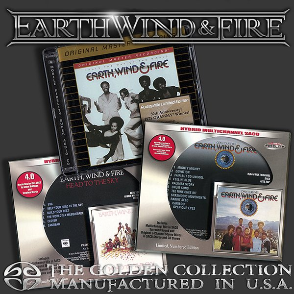 EARTH, WIND & FIRE «Golden Collection 1973-1975» (3 x CD • Columbia Records • Issue 2005-2016)
