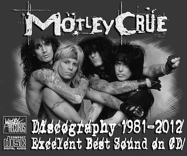 MÖTLEY CRÜE «Discography + solo» (25 x CD • 1st Press • 1981-2012)