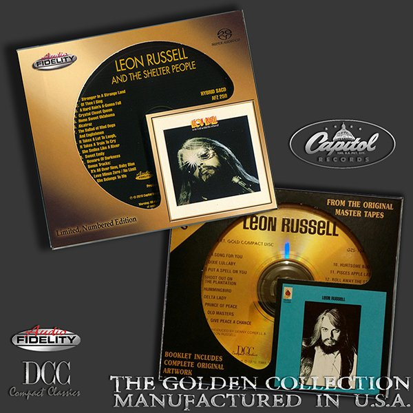 LEON RUSSELL «Golden Collection 1970-1971» (2 x CD • DCC/AF • Issue 1993-2016)