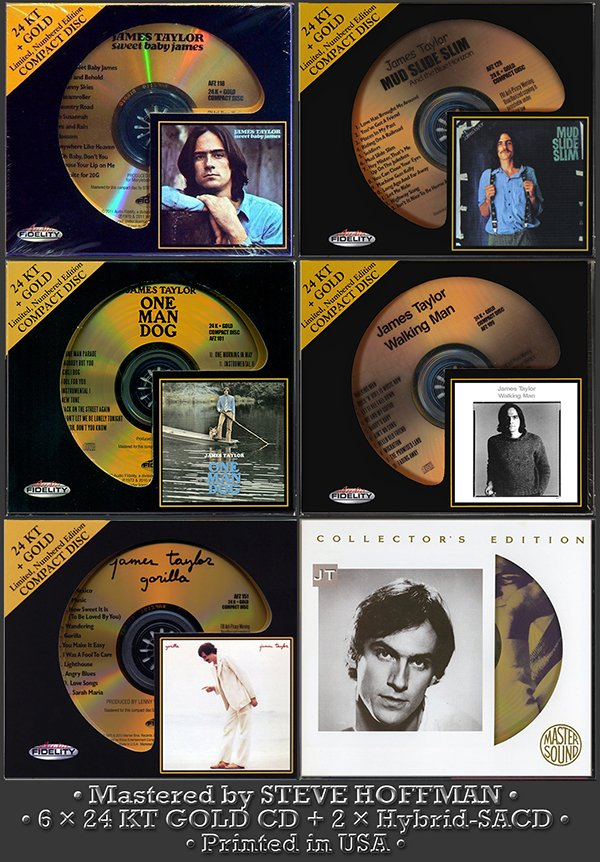 JAMES TAYLOR «Golden Collection» (6 x 24 KT GOLD + 2 x SACD + bonus • Issue 1993-2013)