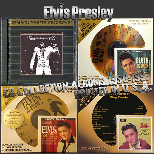 ELVIS PRESLEY «Golden Collection 1958-1997» (4 x CD • RCA Records • Issue 1992-2013)