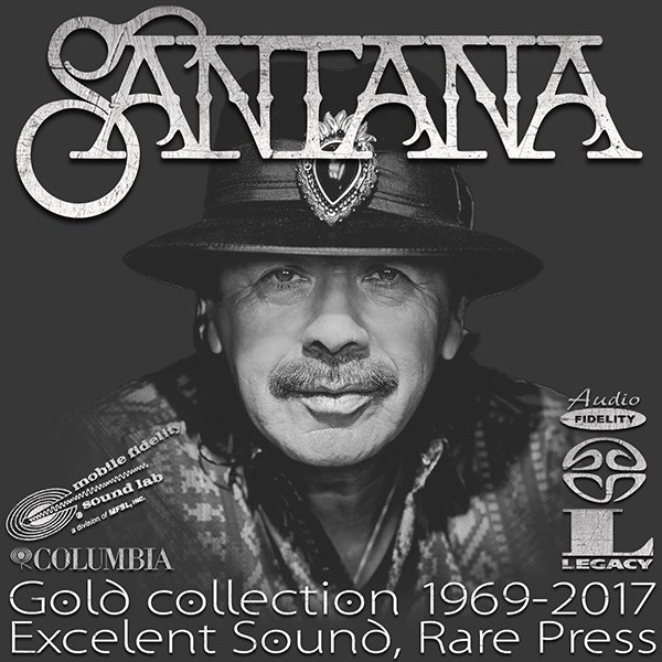 SANTANA «Golden collection» + bonus vinyl (17 x CD + LP • 12 albums 1969-2017)