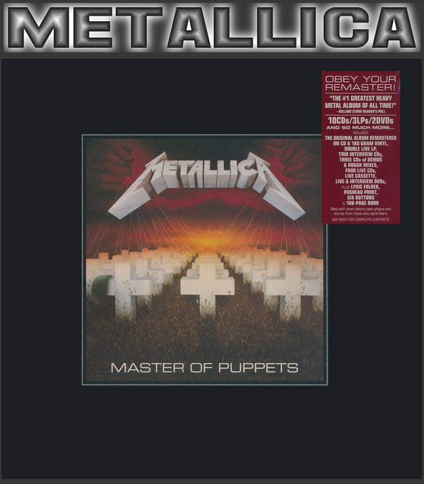 Metallica: 1986 Master Of Puppets - 15-Disc Box Set Blackened Records 2017