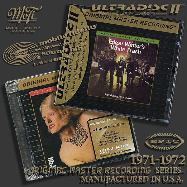 EDGAR WINTER «White Trash / They Only Come Out At Night» (2 x CD • MFSL • 1971-1972)