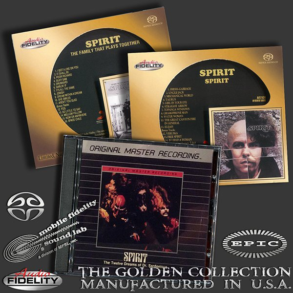 SPIRIT «Golden Collection 1968-1970» (3 x CD • AF/MFSL • Issue 1988-2017)