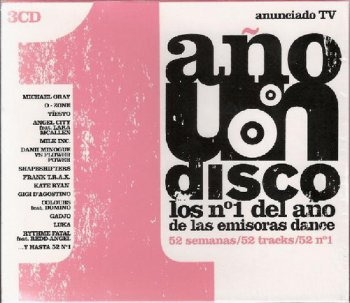 VA - 1 Ano Un Disco - Los №1 Del Ano De Las Emisoras Dance [3CD Box Set] (2004)