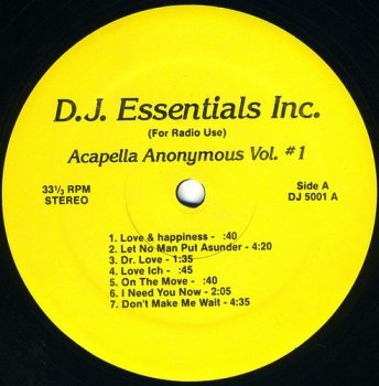 VA - Acapella Anonymous Vol. #1 (1986) [Vinyl]