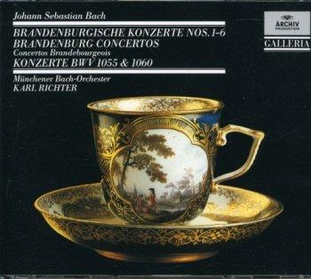 Karl Richter & Munchener Bach-Orchester - Bach: Brandenburg Concertos - Concertos BWV 1055 & 1060 [2CD Remastered Set] (1989)